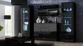 CAMA MEBLE Obývacia stena SOHO 3 Farba: čierna