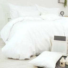 Obliečky bavlnené Deluxe Biele TiaHome 2x Vankúš 90x70cm, 1x Paplón 200x220cm