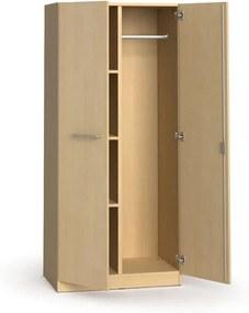 Kancelárska šatníková skriňa s policami  PRIMO, 1781 x 800 x 500 mm, breza