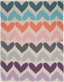 PETITE&MARS Deka pletená bavlnená Harmony Pure Hearts 80 x 100 cm