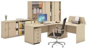 Zostava kancelárskeho nábytku MIRELLI A+, typ B, breza
