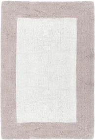 Béžovo-biela ručne tkaná kúpeľňová predložka z prémiovej bavlny Asos, 60 x 90 cm