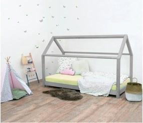 Sivá detská posteľ bez bočníc zo smrekového dreva Benlemi Tery, 90 × 190 cm