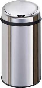 Bezdoteku Bezdotykový odpadkový kôš EXCLUSIVE nerezový guľatý senzorový 30L