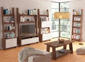 MEBLOCROSS Rack obývacia izba craft tobaco / craft biely