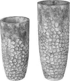 Záhradná váza Dian, 90 cm, šedá