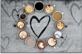InSmile Obraz různé druhy káv 90x60 cm
