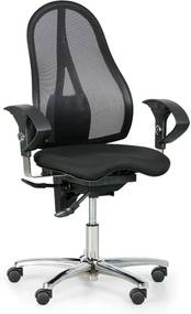 TOPSTAR Zdravotná balančná Kancelárska stolička EXETER NET, čierna