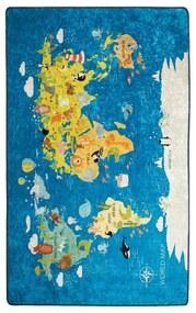 Detský koberec World Map, 100 × 160 cm