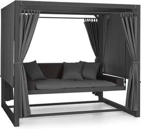 Blumfeldt Eremitage luxusná hojdačka 236x180x210cm tmavosivá/čierna
