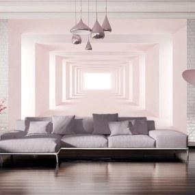 Samolepiaca tapeta 3D ružový tunel - Positive Thinking