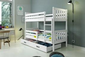 Poschodová posteľ CARINO - 190x80cm - Biela - Biela