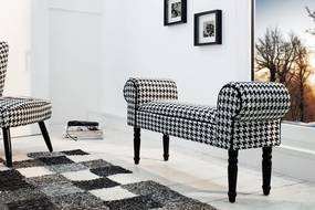 Lavica Retro Coco black and white
