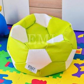 EMI Sedací vak futbalová lopta malá limetkovo-biela 95 litrov