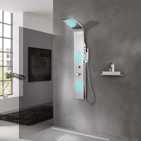 vidaXL Sprchový panel, nerezová oceľ, zahnutý