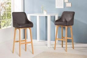 Dizajnová barová stolička Sweden / antická šedá