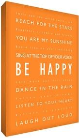 Feel Good Art Oranžový motivační obraz 21,4 x 31,8 cm