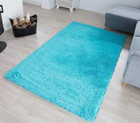 MAXMAX Plyšový koberec TOP - tyrkysový