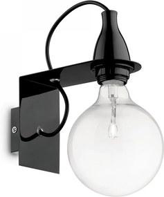Ideal Lux 045214 nástenné svietidlo Minimal Nero 1x70W | E27