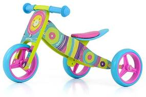 MILLY MALLY Nezaradené Detské multifunkčné odrážadlo bicykel 2v1 Milly Mally JAKE Rainbow Multicolor |