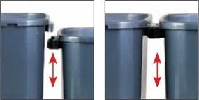 Odpadkový kôš (š x h x v): 25 x 42 x 62 cm, 40 l - veko: oranžové