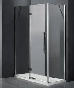 Aquatek Better R43 CHRÓM Sprchovací kút, číre sklo 8 mm, 140 × 80 × 195 cm