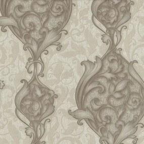 Vliesové tapety, zámocký vzor hnedé, Studio Line 242320, P+S International, rozmer 10,05 m x 0,53 m