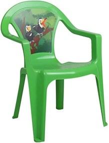 STAR PLUS Nezaradené Detský záhradný nábytok - Plastová stolička zelená Zelená |
