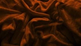 Plachta Mikroflanel dvojlôžko tmavo hnedá Velikost: 180 x 200 cm