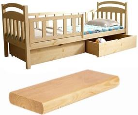 FA Oľga 14 180x80 detská posteľ Farba: Prírodná, Variant rošt: Bez roštu (-10 Eur)