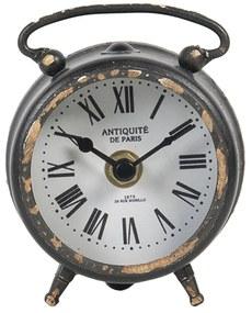 Vintage stolové hodiny s patinou Neva - 9 * 4 * 10 cm / 1 * AA