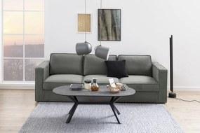 Dizajnová 3-miestna sedačka Danette 249 cm sivá