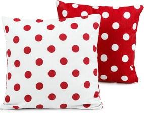 4Home Obliečka na vankúšik Červená bodka, 40 x 40 cm