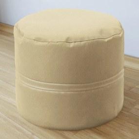 Goldea sedacie bobek 50x40cm - loneta - béžový 50 x 40 cm