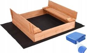 Bestent Impregnované pieskovisko s lavičkami 120cm + krycia plachta + agrotextília