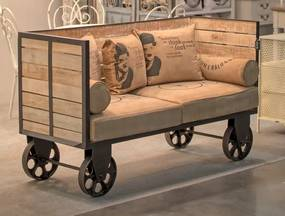Hoff Interieur Bufetová, barová komoda na kolieskach 118x37x101,5 cm