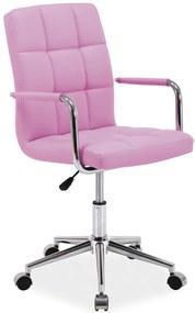 SIGNAL Q-022 kancelárska stolička ružová