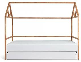 BELLAMY Lotta detská posteľ domček so zásuvkou, matná biela/drevo