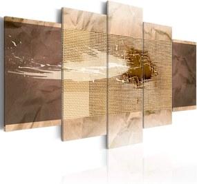Obraz na plátne - Béžová textura 100x50 cm
