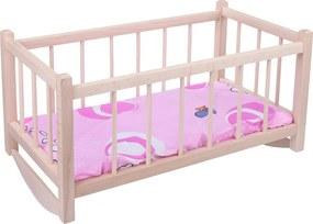 Drevobox Drevená postieľka pre bábiky