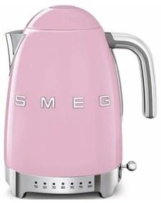 SMEG 50's Retro Style rychlovarná kanvica s LED indikátorom 1,7l ružová KLF04PKEU, ružová