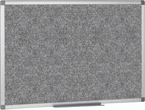 Textilná tabuľa, 1200x900 mm, sivá