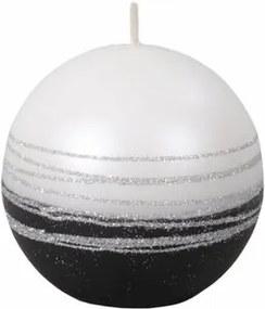 Vianočná sviečka Lumina Silver guľa, biela