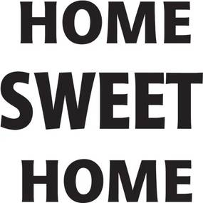 Nálepka na stenu Home sweet home 50x50cm NS2689A_1GE