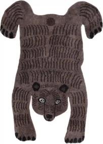 Koberec Bear, tmavý / luxusná vlna, Rozmery  140x200 cm Mum's