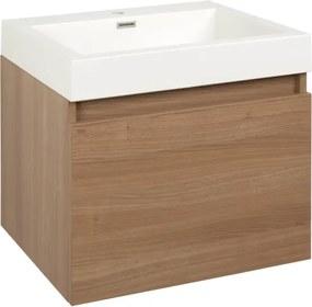 Kúpeľňová skrinka s umývadlom Naturel Verona 60x48 cm cherry VERONA60DV