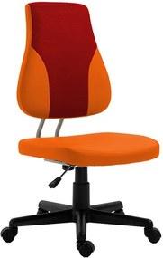 TEMPO KONDELA Randal detská stolička na kolieskach oranžová / červená / čierna