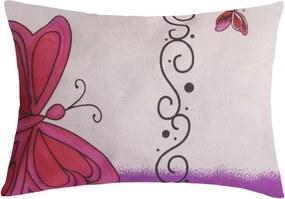 XPOSE ® Povlak na polštář IVETA - fialová 30x50 cm