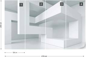 Fototapeta GLIX - 3D Structure 2 + lepidlo ZADARMO Vliesová tapeta  - 416x254 cm