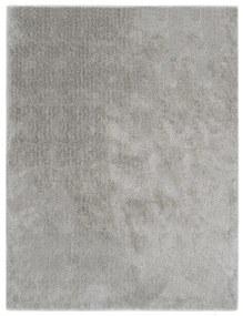 vidaXL Chlpatý koberček sivý 80x150 cm